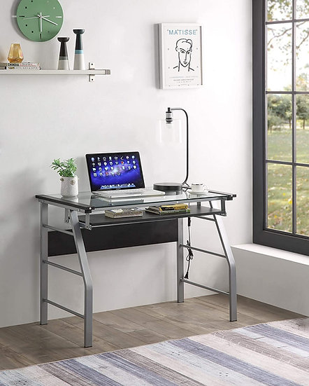 Metal and Glass Desk