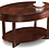 Thumbnail: Leick Oval Coffee Table (Chocolate Cherry)