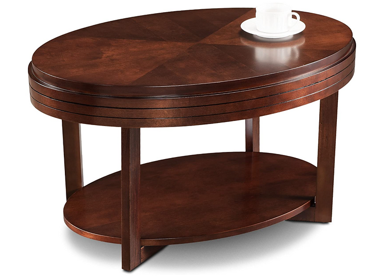Leick Oval Coffee Table (Chocolate Cherry)