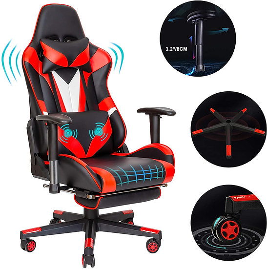Scurrty Professional Gaming Ergonomic Office Chair -Reclining Adjustable  with F