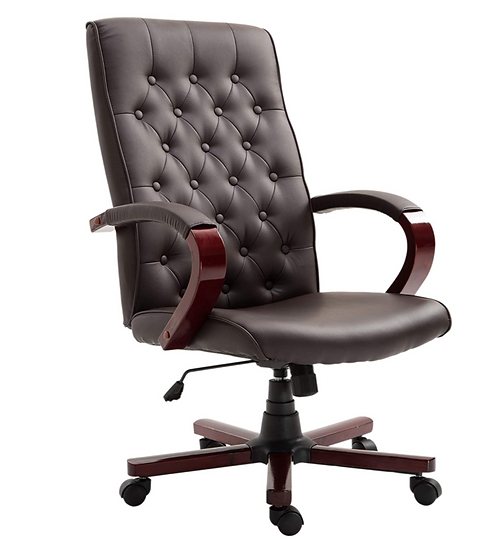 Vinsetto High Back Faux Leather Executive Home Office Chair (brown)
