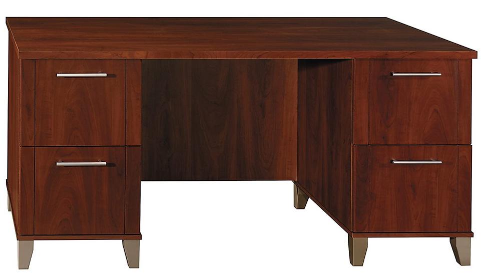Bush Furniture Somerset Office Desk (Hanson Cherry)