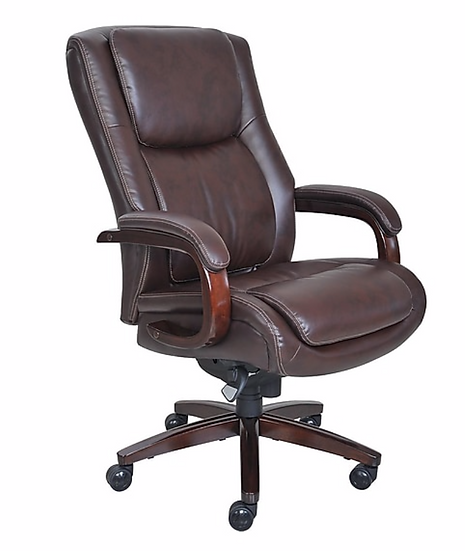 La-Z-Boy Winston Leather Big and Tall Executive Office Chair (Brown)