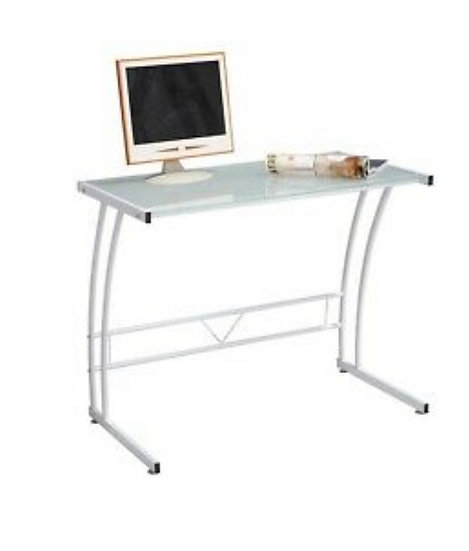 LumiSource Sigma Glass Workstation Desk