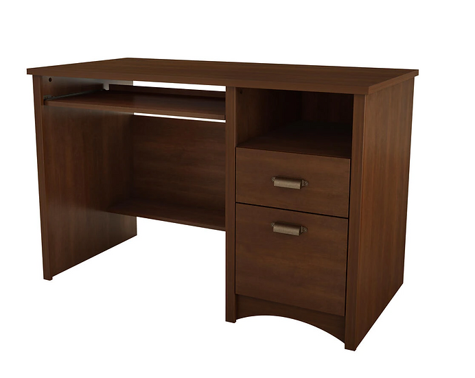 South Shore Computer Desk w/ 2 Drawers and Keyboard Tray (Sumptuous Cherry)