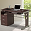 Thumbnail: Techni Mobili Computer Desk with Keyboard Tray and Drawers (Chocolate)