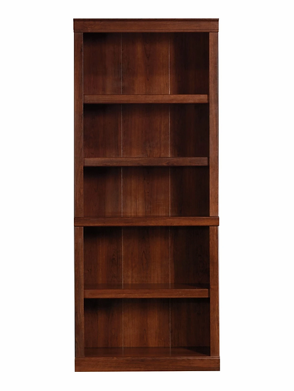 """Realspace® 72""""H 5-Shelf Bookcase, Mulled Cherry"""