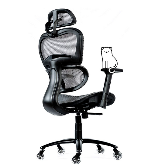 ObjectChair ErgoPro Office/Gaming Chair with Breathable Mesh Back (Grey)