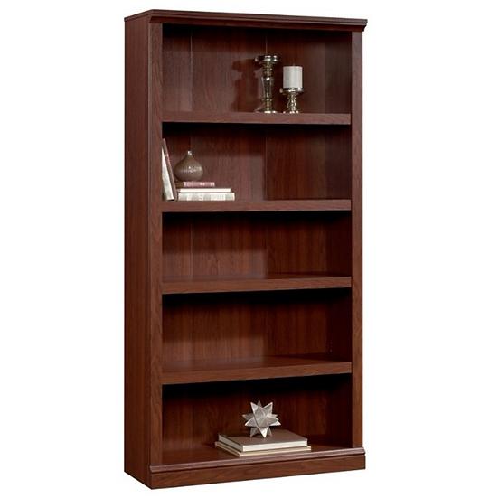 "Realspace 5 Shelf 70""H Bookcase (Brick Cherry)"
