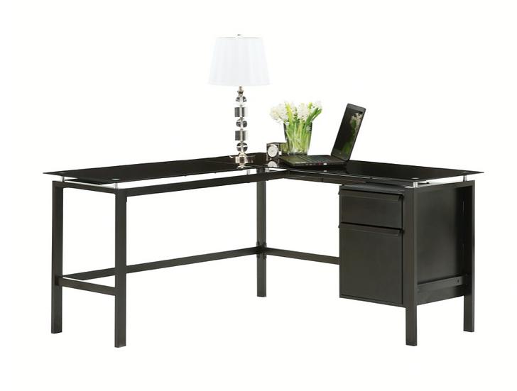 Realspace Lake Point L-Shaped Desk (Black)