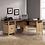 Thumbnail: Sauder August Hill L-Shaped Desk (Dover Oak Finish)