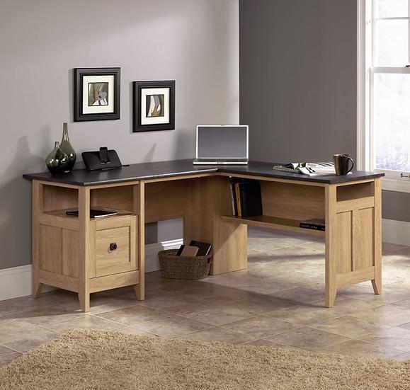 Sauder August Hill L-Shaped Desk (Dover Oak Finish)
