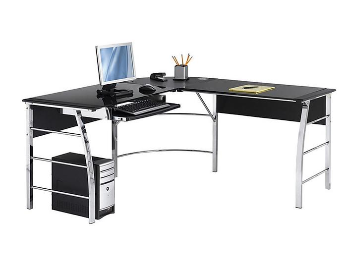 Realspace Mezza L-Shaped Desk Black