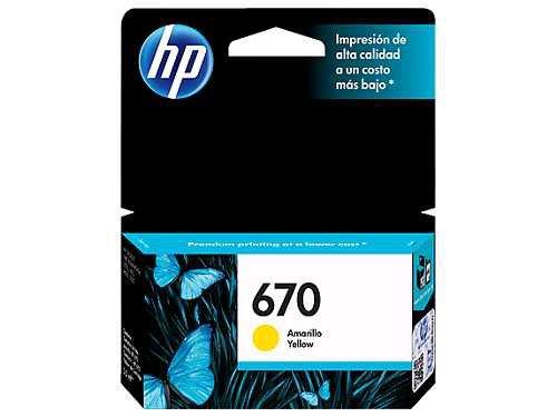 HP 670 Yellow Ink Cartridge