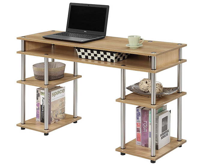 Convenience Concepts Coloured Modern Desk (Light Oak)