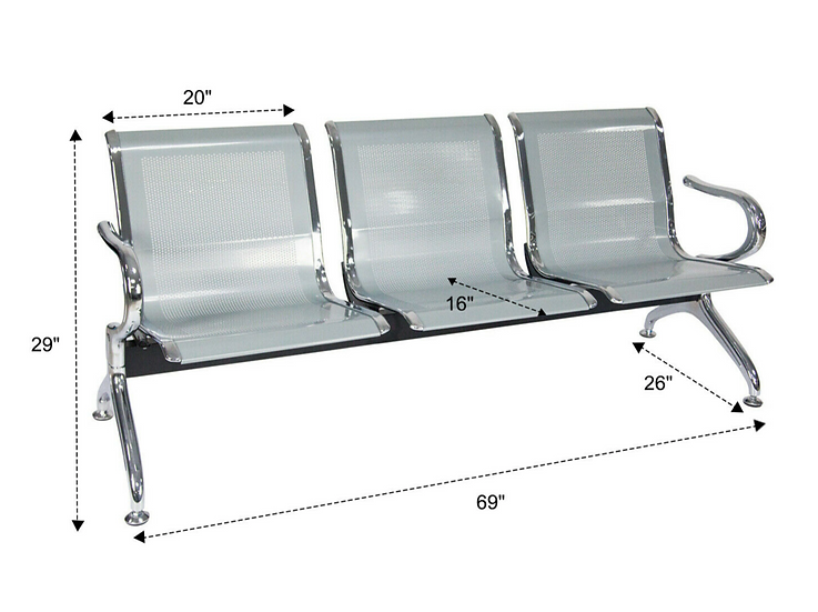 Kinbor Reception Waiting Chair (3 Seats)