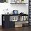 Thumbnail: HOMCOM Modern S-Shaped Rotating Computer Desk with Storage (Black)