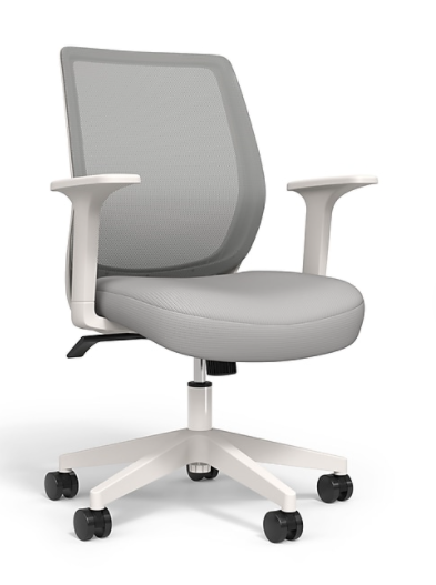 Union & Scale™ Essentials Mesh Back Fabric Task Chair (Gray)
