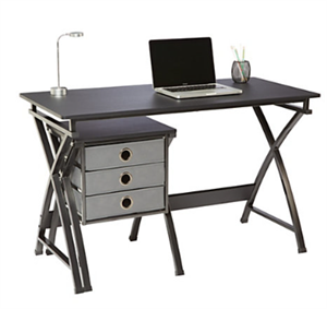Brenton Studio XCross Desk with Storage Drawers