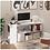 Thumbnail: HOMCOM Modern S-Shaped Rotating Computer Desk with Storage (White)