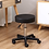 Thumbnail: Round Rolling Height Adjustable PU Leather Stool