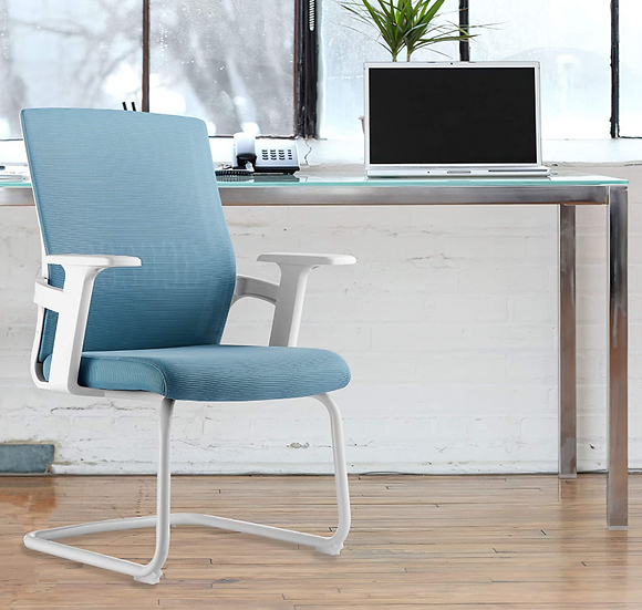 ASunflower Office Mesh Guest Chair (Blue)