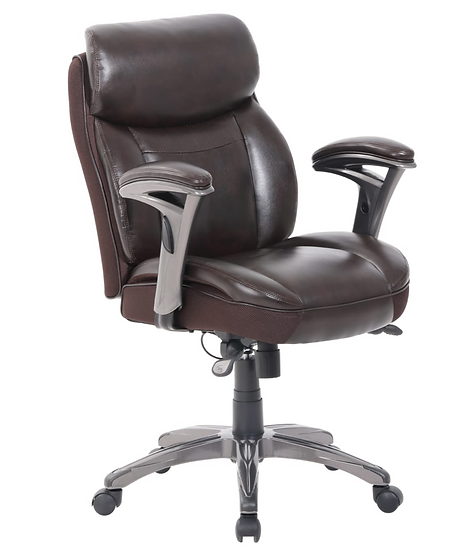 Serta® Smart Layers™ Siena Manager Bonded Leather Mid-Back Chair