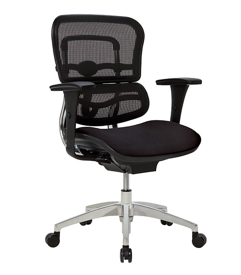 WorkPro® 12000 Series Ergonomic Mesh/Fabric Managerial Mid-Back Chair
