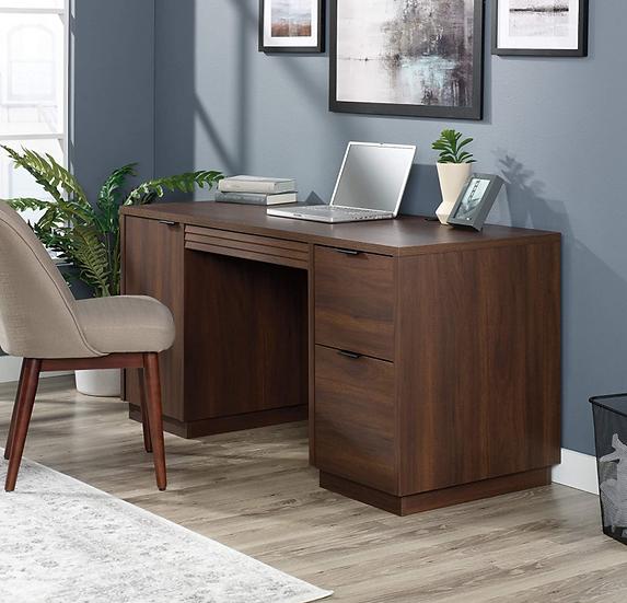 Sauder Englewood Double Pedestal Executive Desk (Spiced Mahogany Finish)