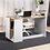 "Thumbnail: DHHX 48"" Computer/ Writing Desk with Storage (Oak White)"