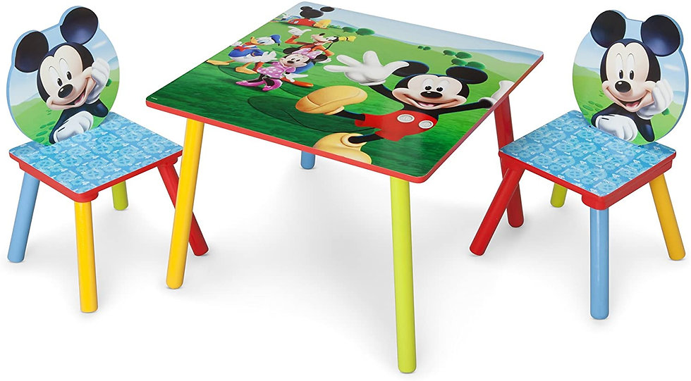 Mickey Mouse Activity Folding Childrens Table & Chair Set