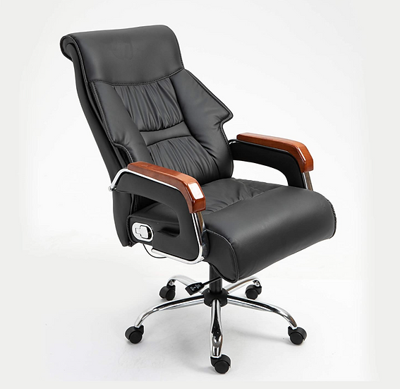 Halter Executive High Back Reclining Bonded Leather Chair (Black)