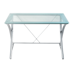 Realspace Zentra Glass Desk