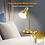 Thumbnail: Metal Gold Corded Goose Neck Desk Lamp