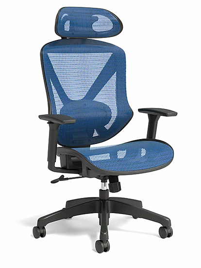 Union & Scale FlexFit Dexley Mesh Task Chair (Blue)