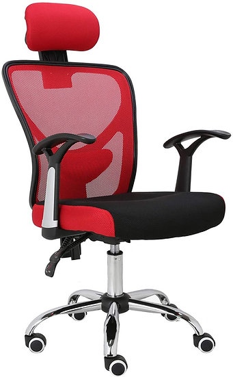 Ergonomic Home Office Mesh Chair (Red)