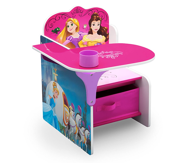 Delta Disney Princesses Children Desk &Chair Set with Storage Bin