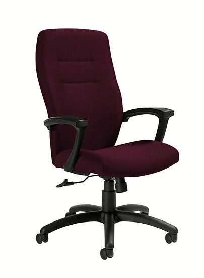 Global® Synopsis High Back Tilter Chair (Vermilion| Black
