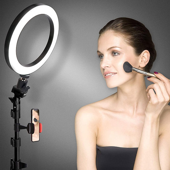 UBeesize 8''  LED Selfie Ring Light with Tripod Stand & Cell Phone Holder