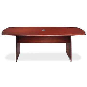 Realspace Broadstreet 8 ft Boat Shaped Conference Table 29 15/16'' H X 94 1/2''