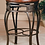 Thumbnail: Montello Backless Swivel Counter Stool| Old Steel Finish w/ Brown Faux Leather
