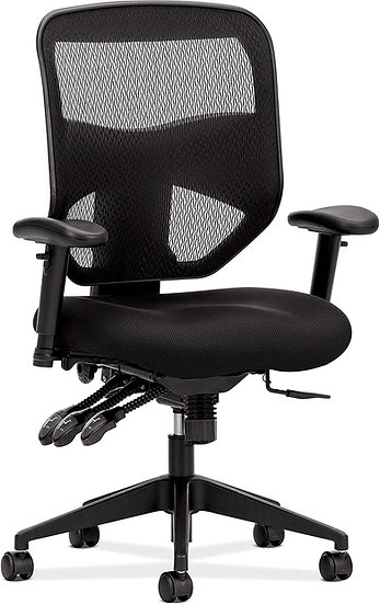 HON Prominent Mesh High-Back Task Chair, with Seat Glide and Height- and Width-A