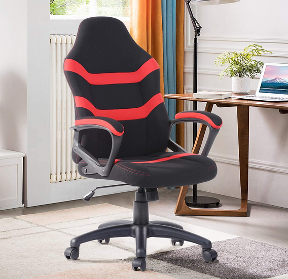 Raamzo Executive Racing Style High Back Gaming/Office Chair (Black & Red)