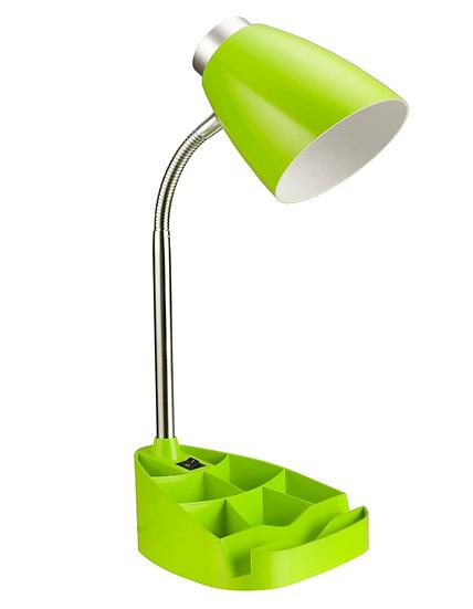Limelight Gooseneck Desk Lamp with Organizer (Green)