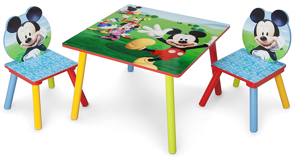 Delta Mickey Mouse Children's Table and Chair Set (2 chairs included)