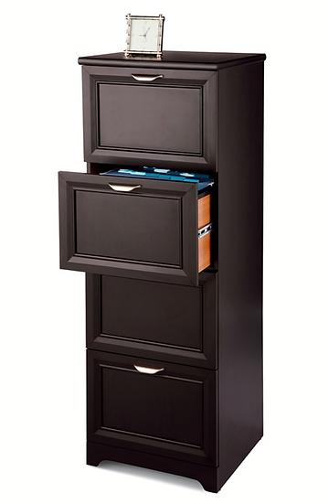 Realspace Magellan 4 Drawer Vertical File Cabinet (Espresso)