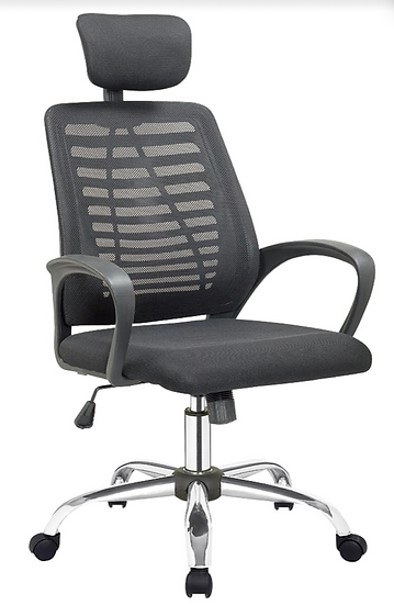 SIT Manager Mesh Back Chair with Headrest (Black)