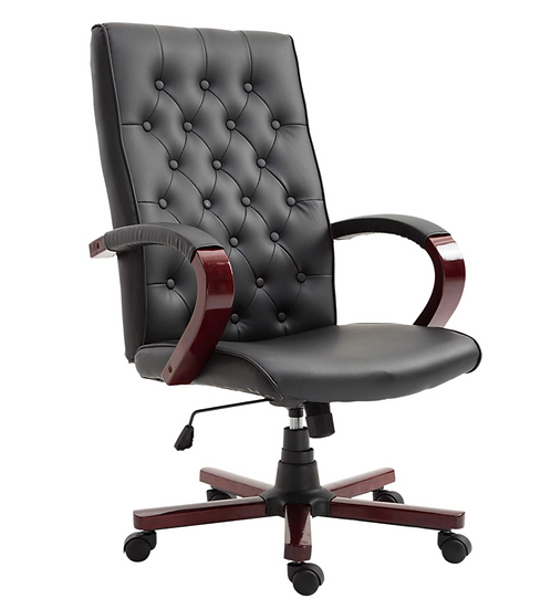 Vinsetto High Back Faux Leather Executive Home Office Chair (black)
