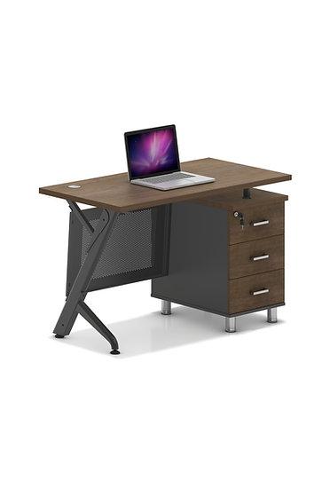 SIT 3 Drawer Metal Base Offie Desk - SIT-D400