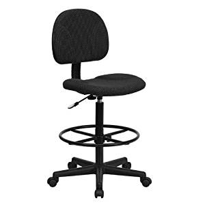 SIT Cashier/ Draft Stool High Chair with Foot Ring (Black)